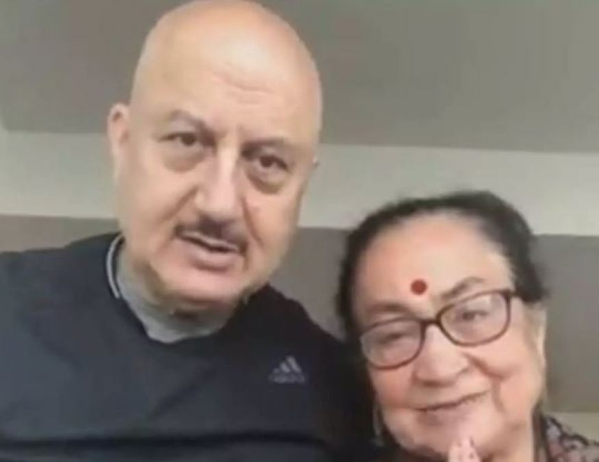 Video: Anupam Khers mother wanted to wish PM Modi, this funny incident took