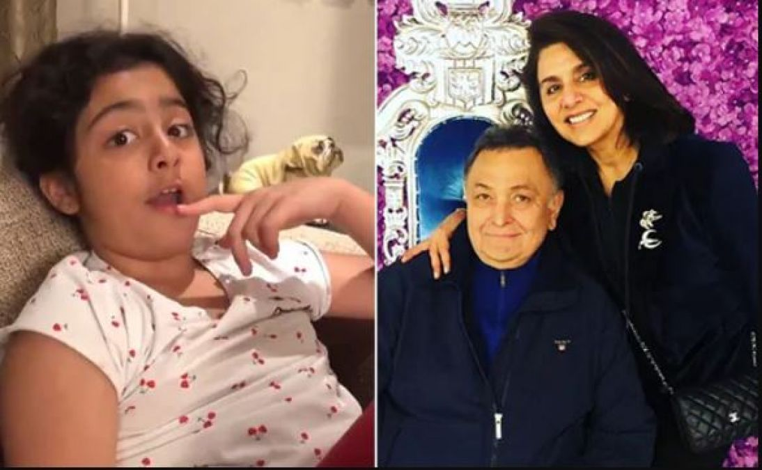 VIDEO: Delhi's mosquitoes trouble Rishi Kapoor's granddaughter, reacted like this