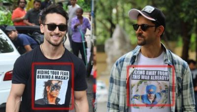 Tiger gets befitting replay from Hrithik, 't-shirt 'war' begins between both