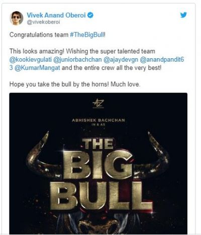 Vivek Oberoi wishes Abhishek Bachchan for The Big Bull, read tweet here