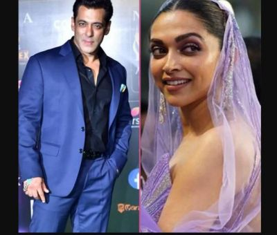Salman was not able to pass behind Deepika, the actress started laughing