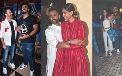 The Zoya Factor Screening: Arjun became Katrina's bodyguard, Hubby Aanand hugged Sonam