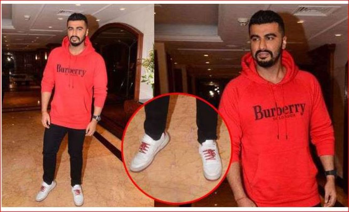 Arjun Kapoor seen wearing dirty sneakers,  will be shocked to hear its price