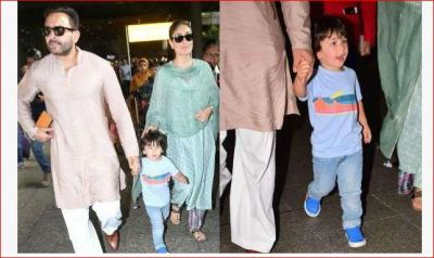 Kareena-Saif returned from Pataudi Palace with son Taimur, pictures go viral!