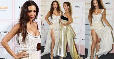 Malaika looks beautiful in high slit dress, stars once again on Red carpet