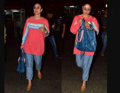 मुंबई एयरपोर्ट पर इस हाल में दिखीं करीना कपूर, हॉट अंदाज जीत लेगा दिल