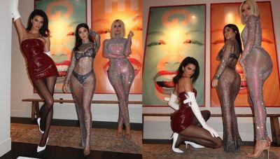 अतरंगी ड्रेस पहनकर कार्दशियन सिस्टर्स ने फिर कराया बोल्ड फोटोशूट