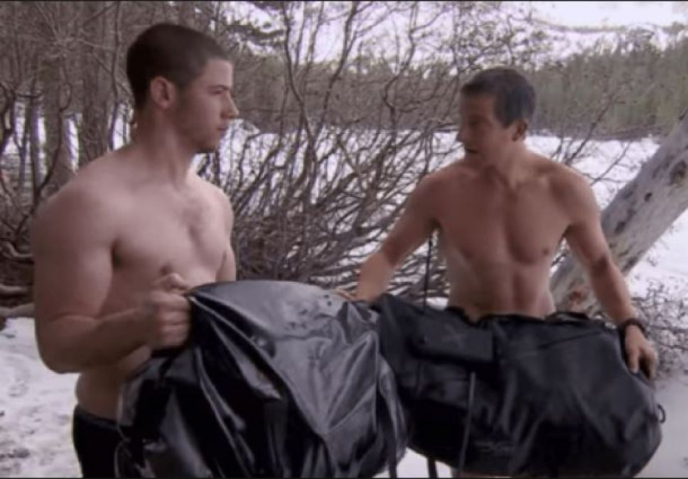 When Nick Jonas was in such a condition in Man vs. Wild, watch the
