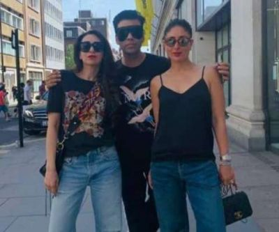Karan Johar spotted with Kapoor Sisters in London, see pics!