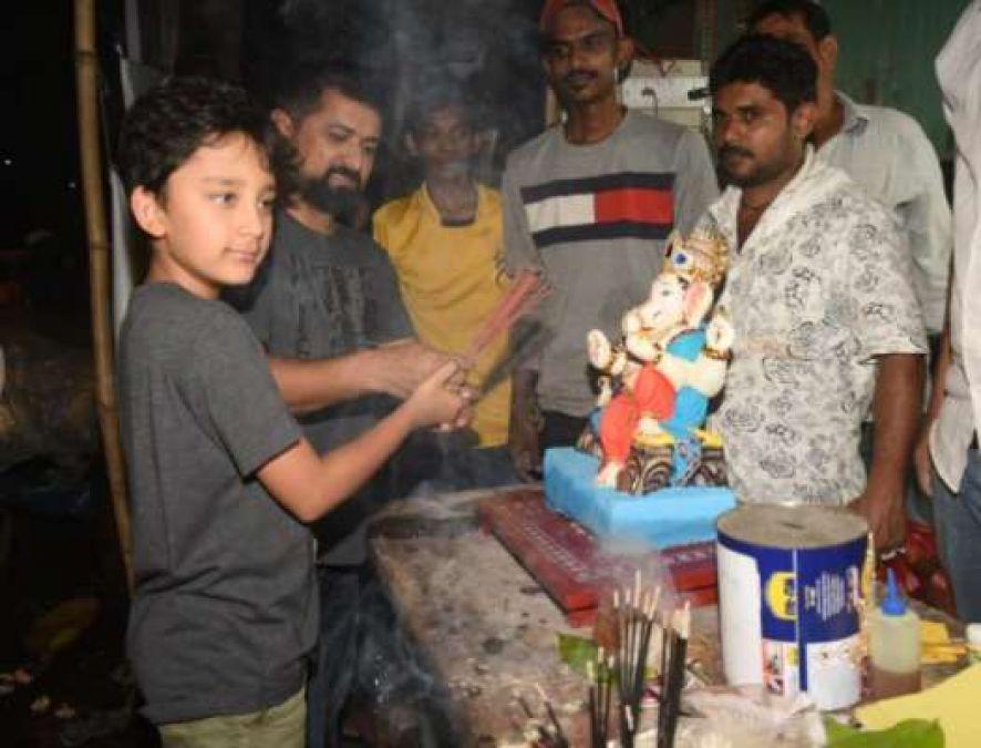 'Ganpati Bappa' also came to the house of 'Sanju Baba', see beautiful photos