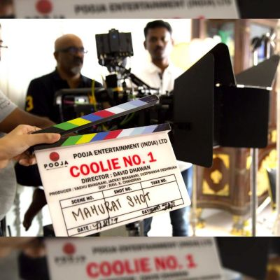 Shooting photos of 'Coolie No 1' came in front!