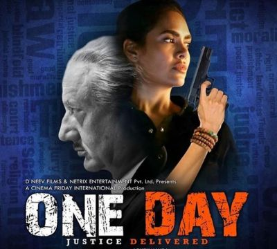 Poster of Anupam Kher and Isha Gupta's One Day is out, check it out here
