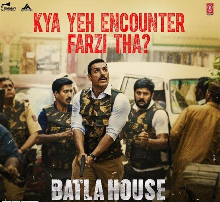 Batla House Poster : नए पोस्टर में हाथ में गन थामे नज़र आये जॉन अब्राहम