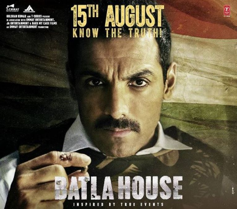 Batla House Poster: Taking a bullet in Hand John Abraham Appeared patriotic