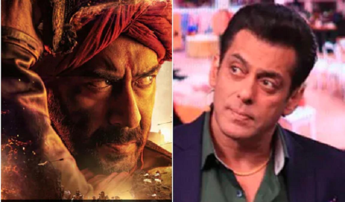 अजय देवगन की 'तान्हाजी...' का ट्रेलर देख सलमान खान ने दिया रिएक्शन, सोशल मीडिया पर लगी आग