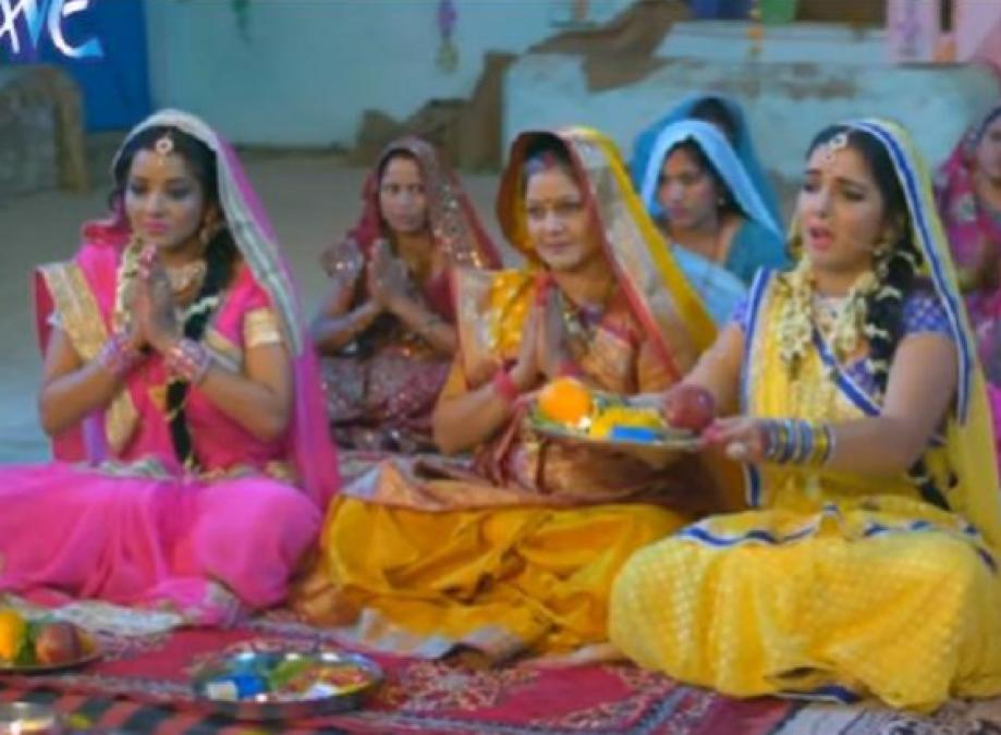 Bhojpuri Star Amrapali Dubey and Monalisa's Teej Song Goes