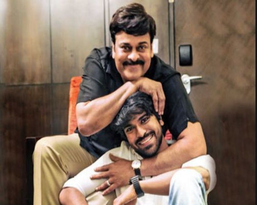 Ram Charan shares a delightful picture with Megastar Chiranjeevi wishing him on his birthday