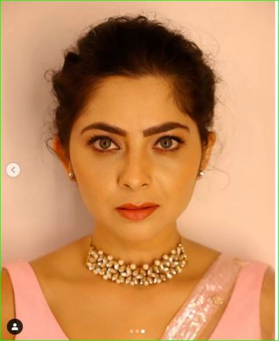 This Marathi actress looked very attractive in Pink Saree