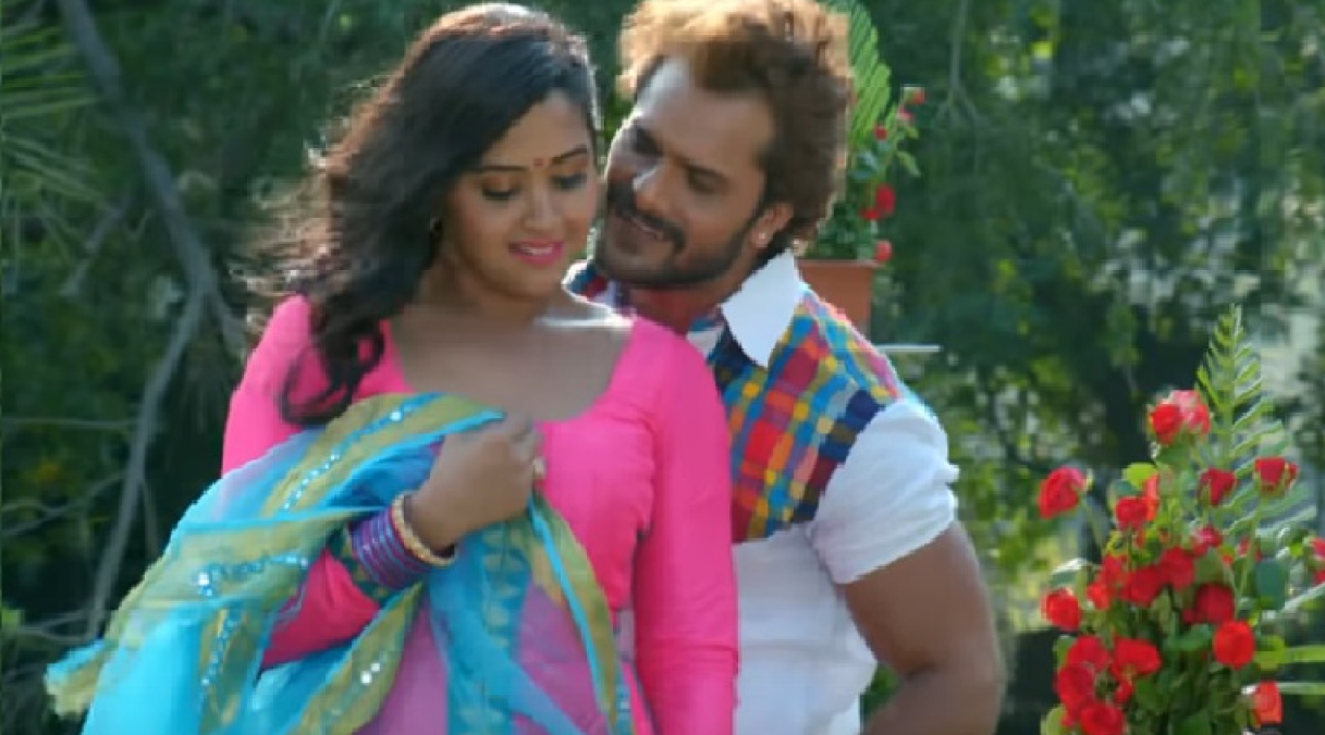 The actress was loved by Khesari Lal as a Superman, the video went viral!