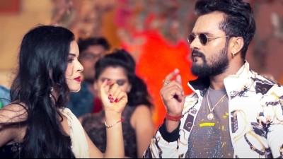 Khesari's 'red lipstick' song got 3.6 million views