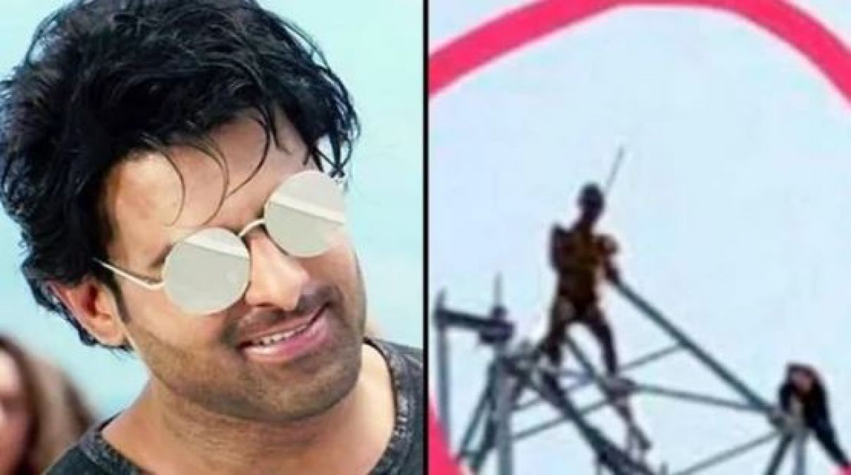 Fan's madness for Prabhas, climbed Mobile Tower