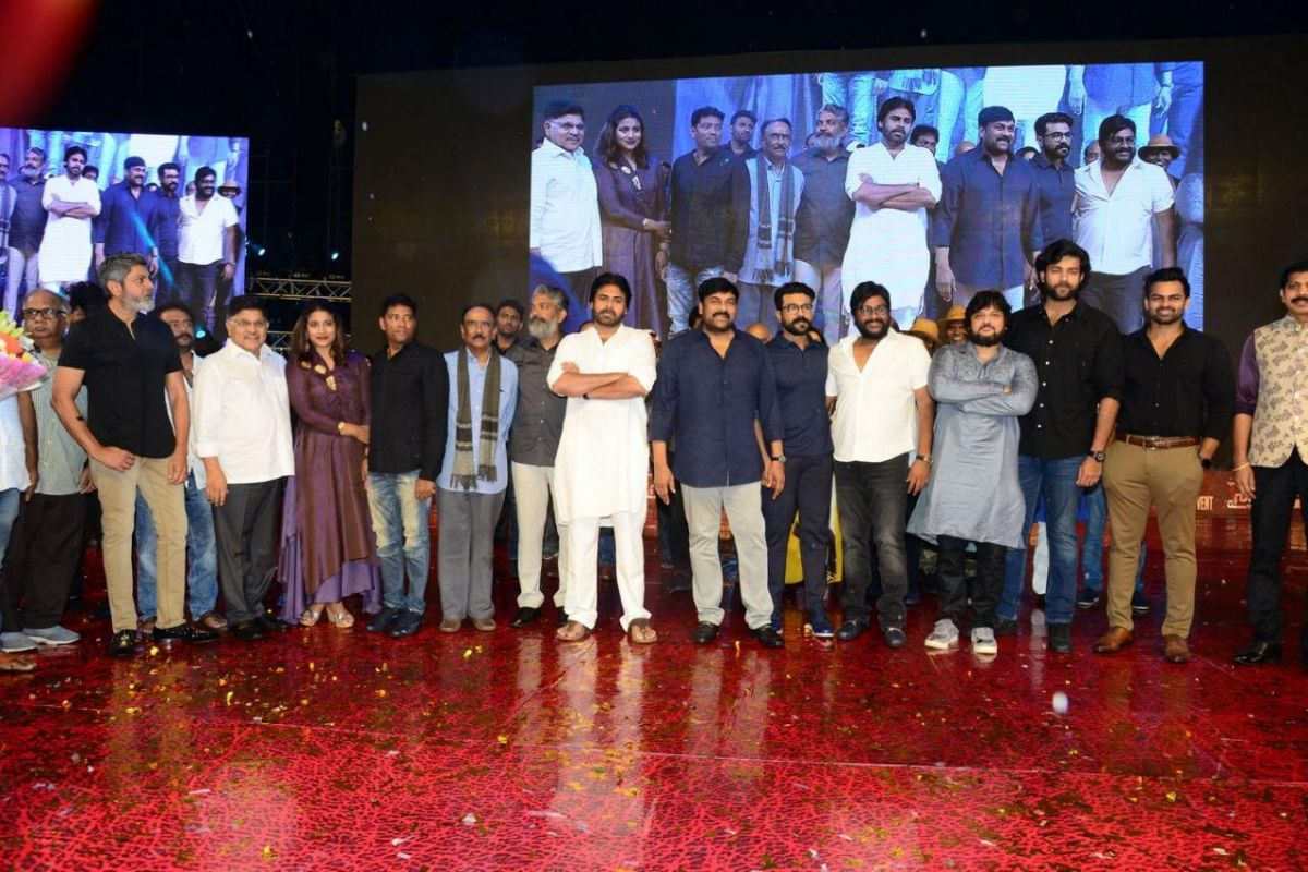 Thousands of fans attended Pre-release event of 'Sye Raa Narasimha Reddy', See pictures