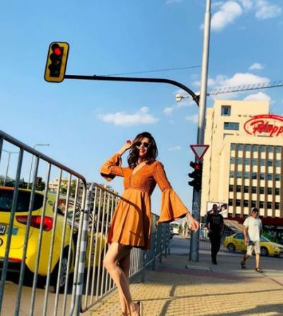 Karisma Tanna shows her bold style in Bulgaria!