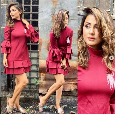 Hina Khan Wreaked havoc in a Red Dress, See Viral Photos!