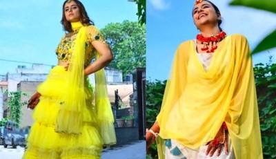 Photos of 'Diya Aur Baati Hum' fame Prachi Tehlan's Mehendi ceremony surfaced
