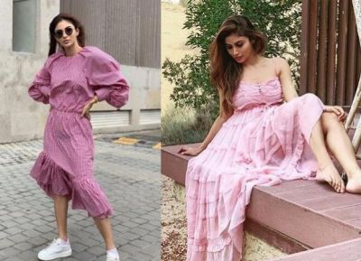 Mouni Roy robbed million hearts in her Baby Pink Dress