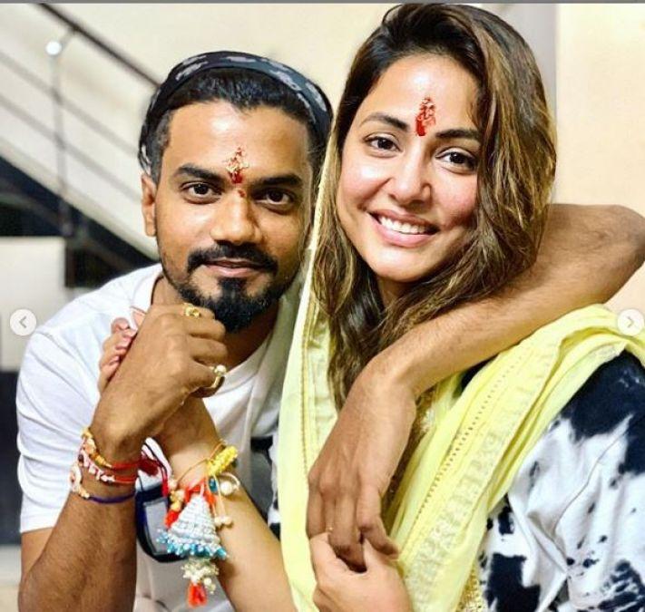 Hina Khan's Pre Rakhi celebration with family, Check out latest pics