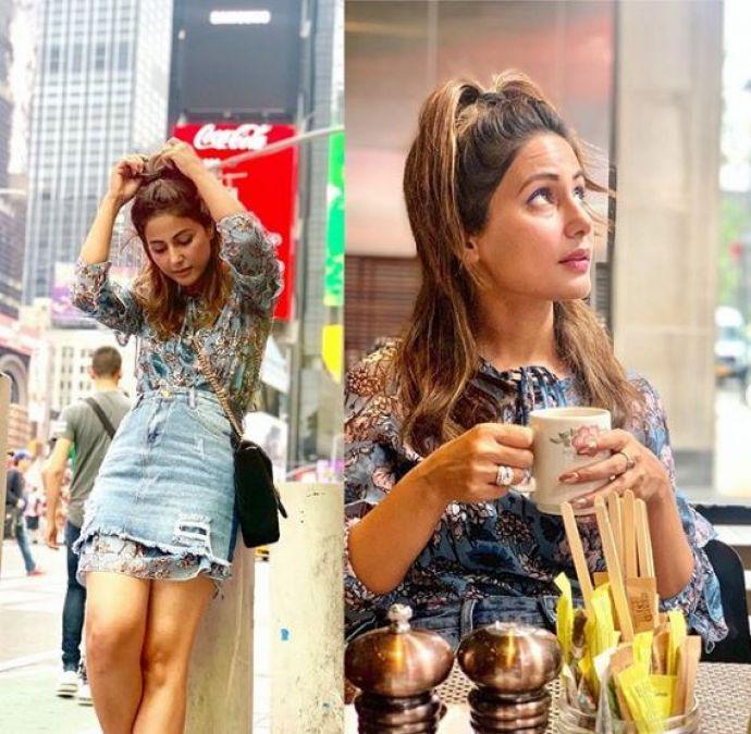 Hina Khan enjoys vacations with Boyfriend, shares