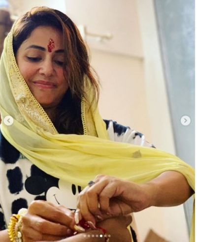 Hina Khan Celebrated Rakhi Festival with brother Aamir, Posts Photos!