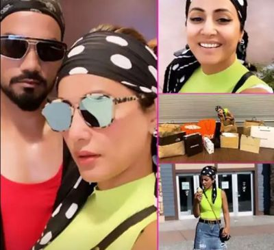 Henna Khan enjoys on the streets of the US with boyfriend in an unseen avatar, check out the pictures here