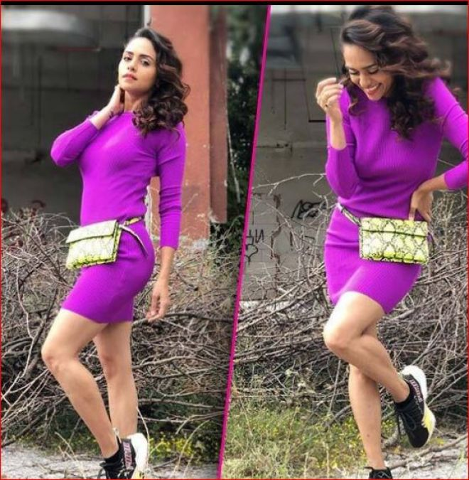 Amrita Khanvilkar taking time off from shooting and focusing on the photoshoot!