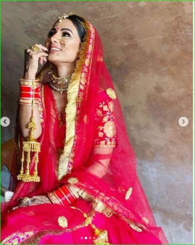 Hina Khan becomes bride of Priyank Sharma, boyfriend Rocky can get angry