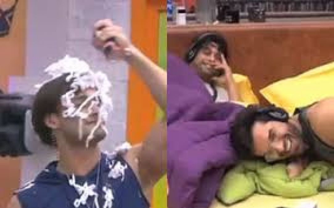 Bigg Boss 13: Paras orders Asim to put shaving cream all over his