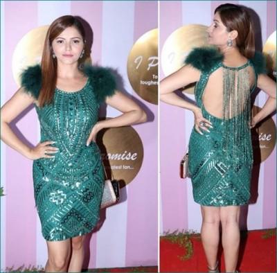 Rubina Dilaik looks gorgeous at Kamya Punjabi's wedding reception, gives special message