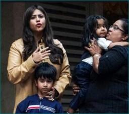 Bollywood stars arrive with children at Ekta Kapoor's son's birthday party