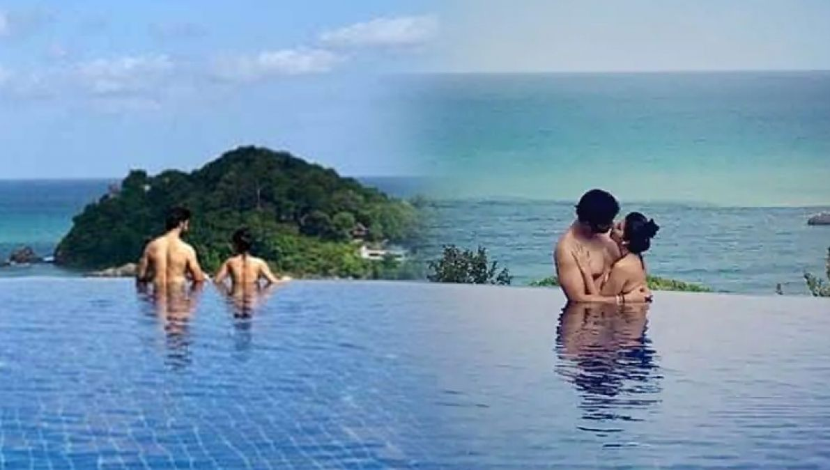 Passionate Kiss in the pool, Rajeev-Charu, enjoy a fierce honeymoon