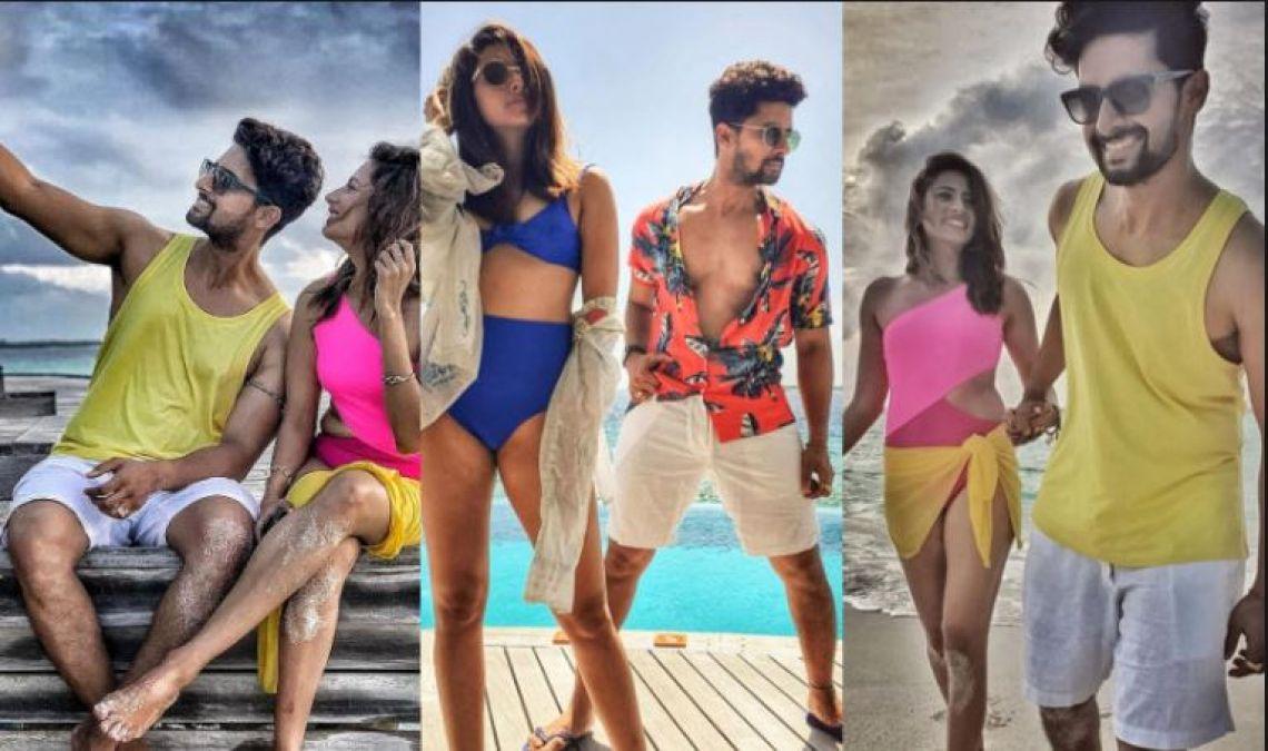 Sargun Mehta sizzles in a bikini, enjoys vacations with husband Ravi