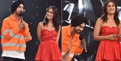 Diljit sings songs for Kareena Kapoor in DID, watch video here