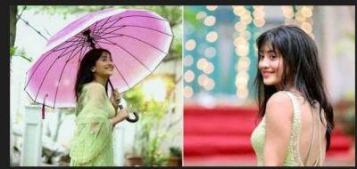 Naira of Yeh Rishta.. is Seen having fun in the rain on the set!