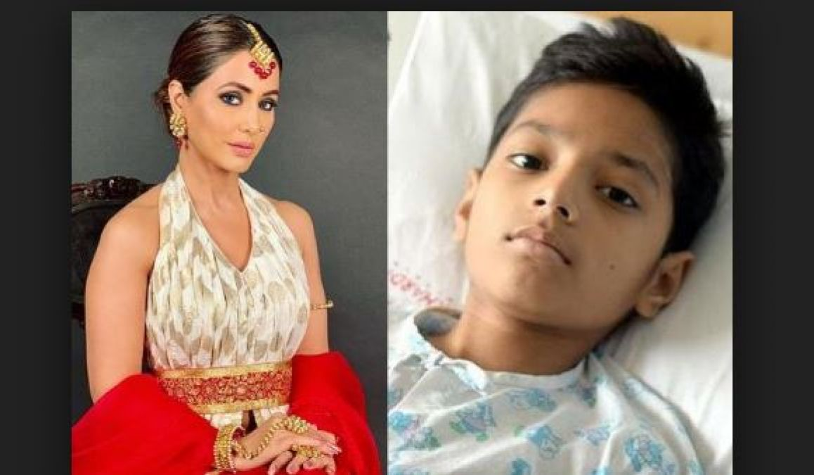 Hina Khan comes forward to help the child who is suffering from cancer!