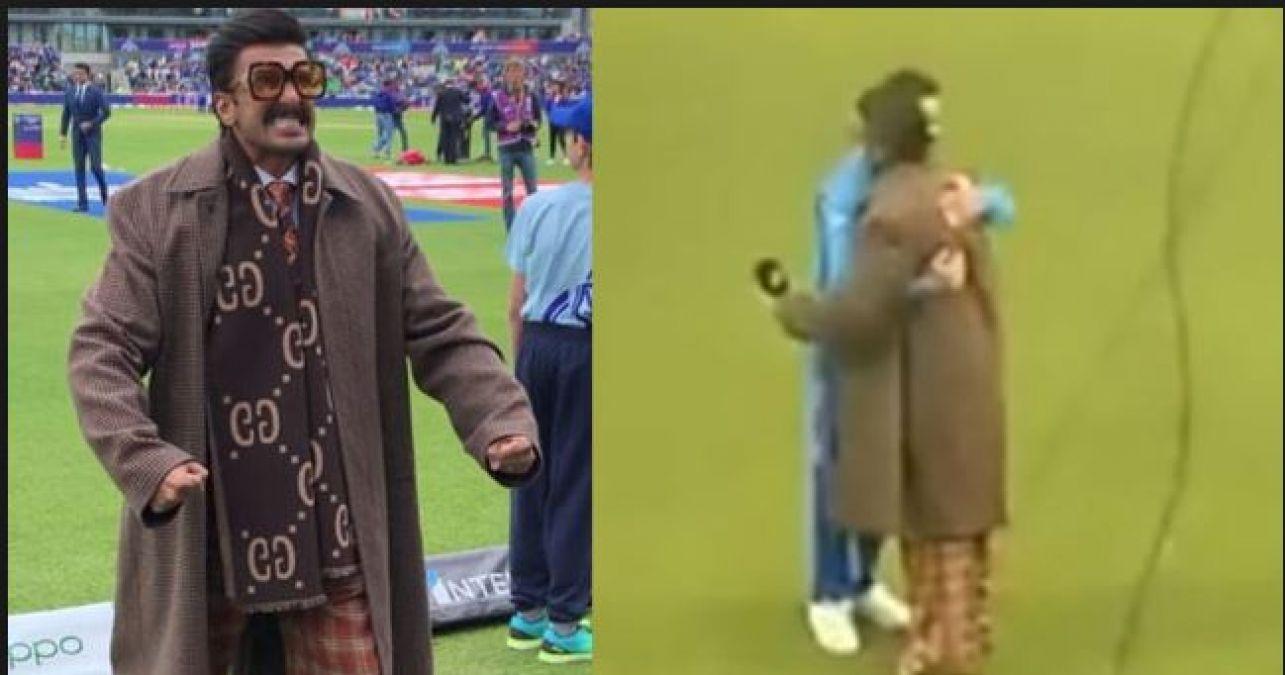 Video: जीत से इतने खुश हुए रणवीर सिंह कि विराट को लगा लिया गले