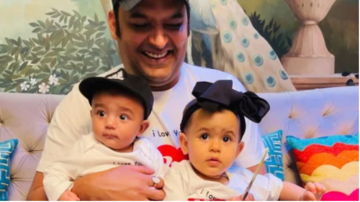 Kapil Sharma shares pictures of his two munchkins on Father's Day