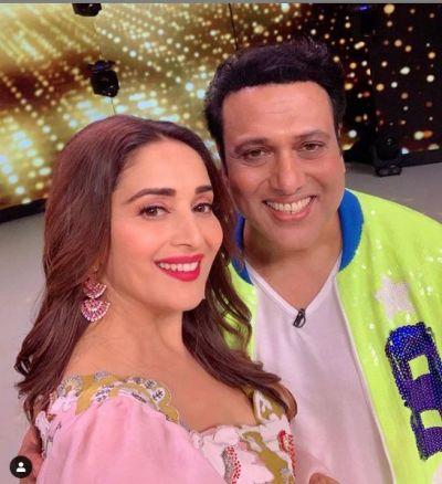 Govinda, Madhuri enjoyed on the set of Dance Deewane