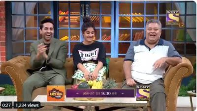On Kapil's show, Ayushmann shakes a leg with Sapna