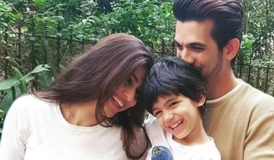 Arjun Bijlani returns home after completing shooting for Khatron  Ke Khiladi-11, wife & son did grand welcome