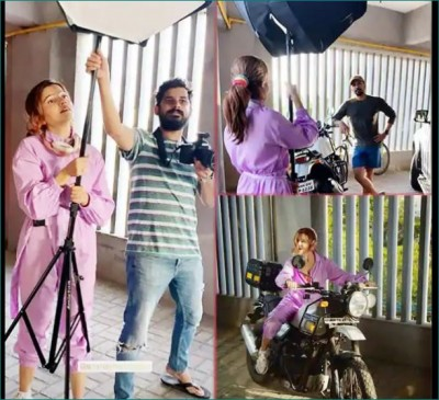 Rubina Dilayak become spotboy for her husband
